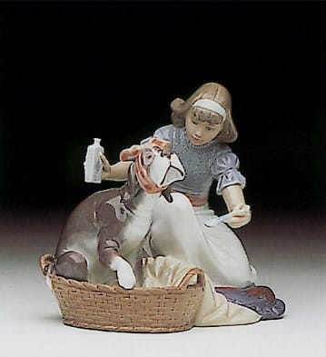 Lladro Take Your Medicine Porcelain Figurine