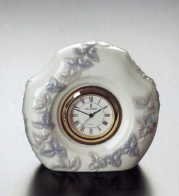 LladroFloral Quartz ClockPorcelain Figurine