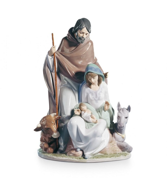 Lladro Joyful Event Nativity Porcelain Figurine