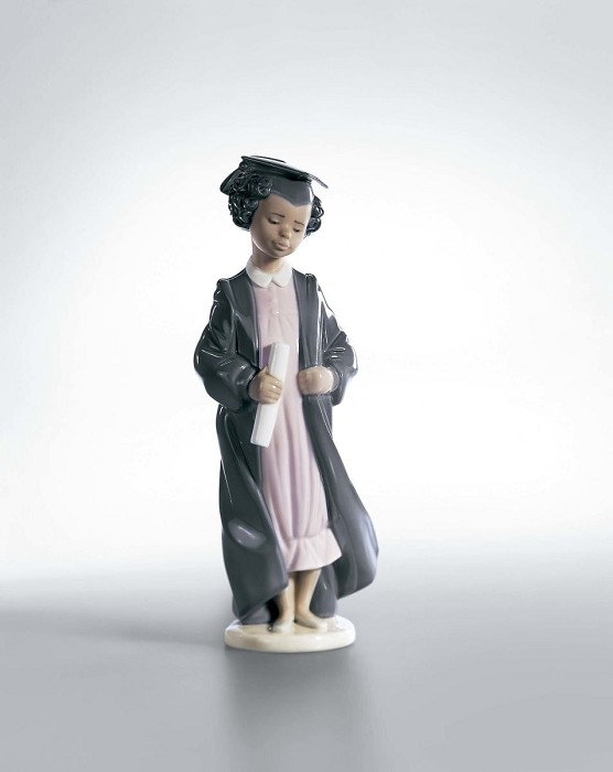 Lladro Black Legacy The Road To Success Porcelain Figurine