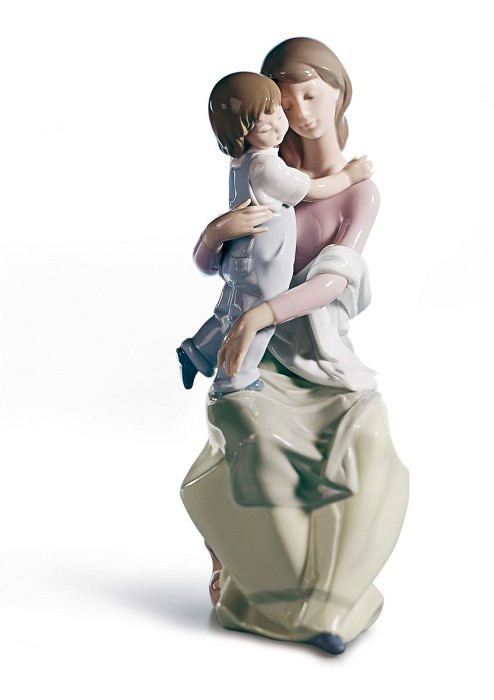 Lladro A Mother's Love Mixed Media Sculpture