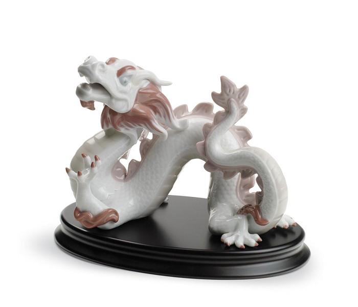 LladroThe DragonPorcelain Figurine