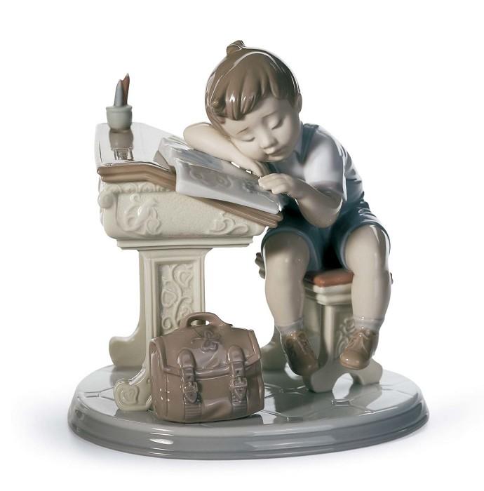 LladroSleepy ScholarPorcelain Figurine