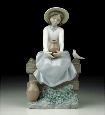 LladroA Brief RestPorcelain Figurine