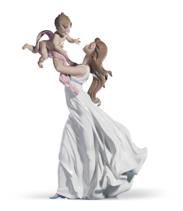 Lladro My Little Sweetie Mixed Media Sculpture