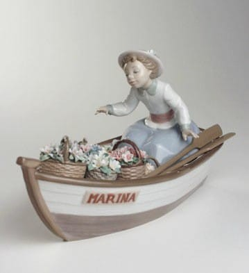 Lladro Blooms On Board Porcelain Figurine