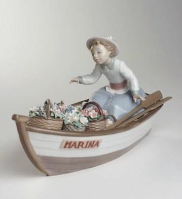 LladroBlooms On BoardPorcelain Figurine