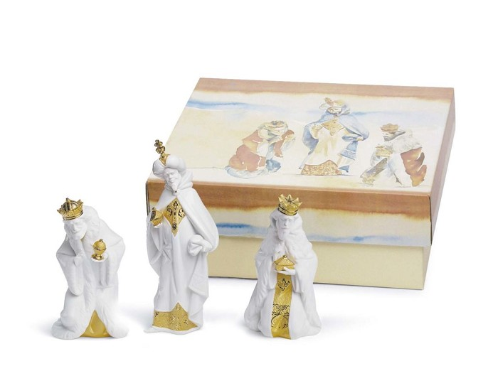 Lladro SET THREE WISE MEN (RE-DECO) Porcelain Figurine