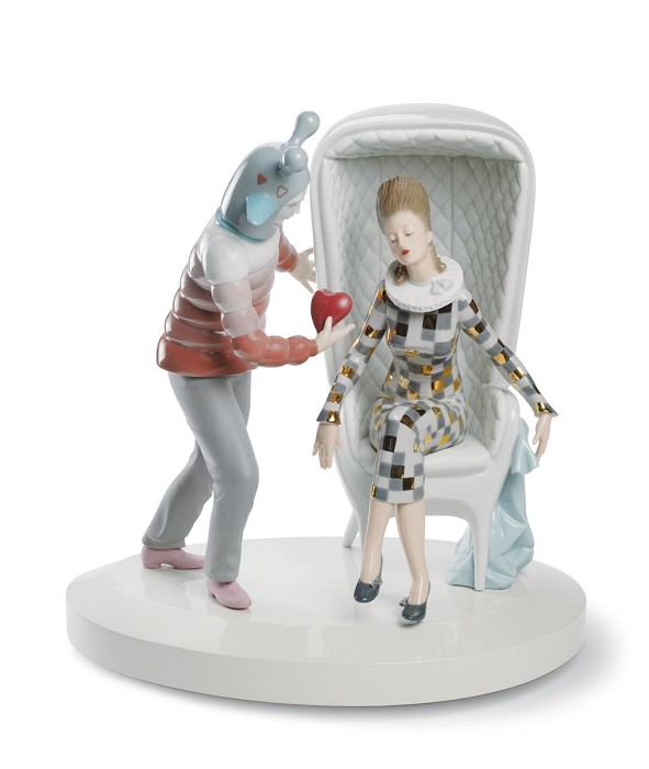 Lladro The Love Explosion Porcelain Figurine