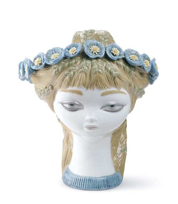 Lladro BUCOLIC HEAD (COLOR)  Porcelain Figurine