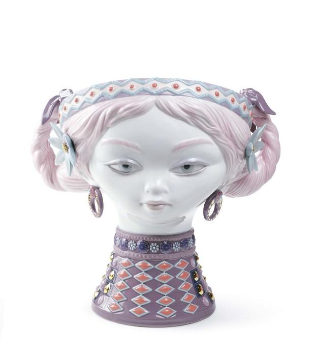 LladroBYZANTINE HEAD (COLOR)Porcelain Figurine
