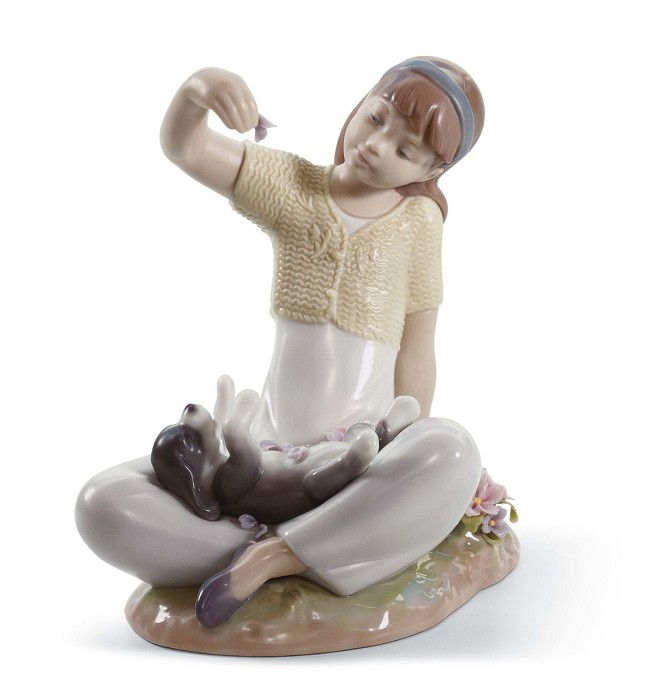 Lladro Playtime With Petals
