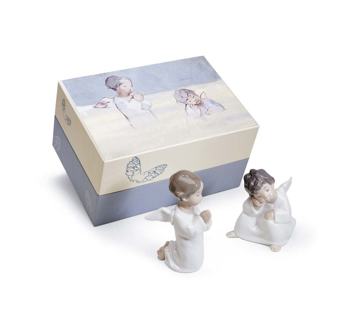 Lladro Heavenly Friends Porcelain Figurine