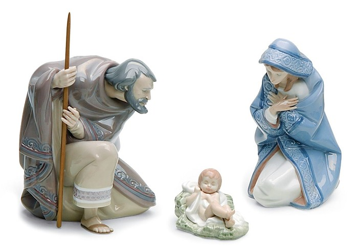 Lladro Silent Night Nativity Set Porcelain Figurine