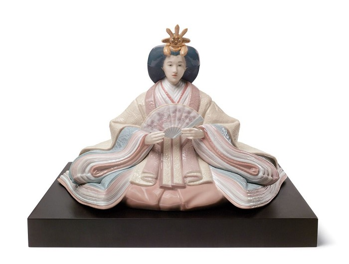 Lladro Hina Dolls Empress Mixed Media Sculpture