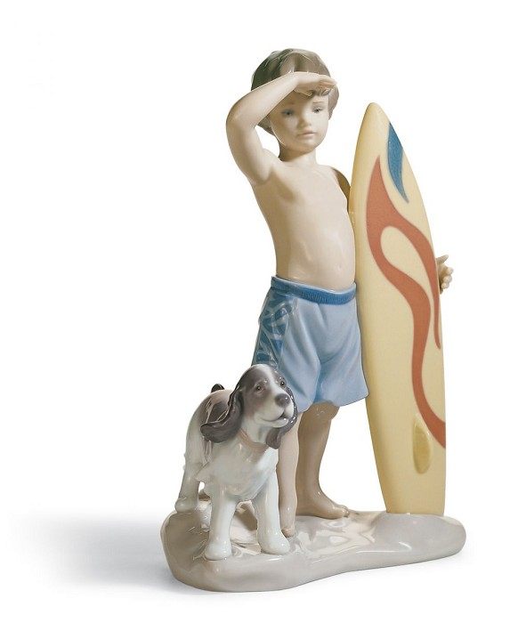 Lladro SURF'S UP Porcelain Figurine