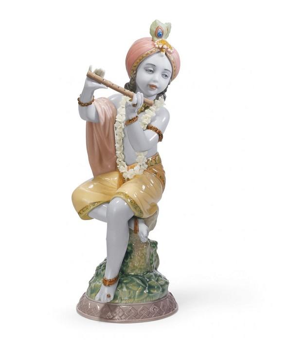 LladroLord KrishnaPorcelain Figurine
