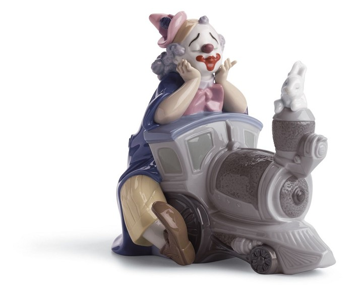 Lladro Circus Express Clown Porcelain Figurine