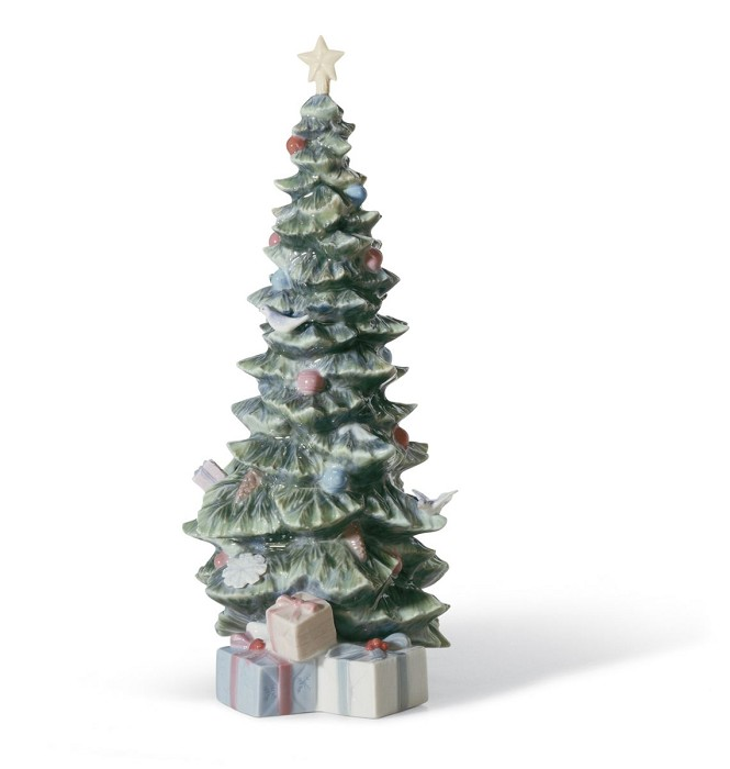 LladroO Christmas TreePorcelain Figurine
