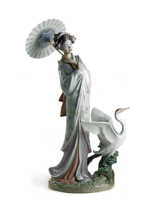 LladroJapanese PortraitMixed Media Sculpture