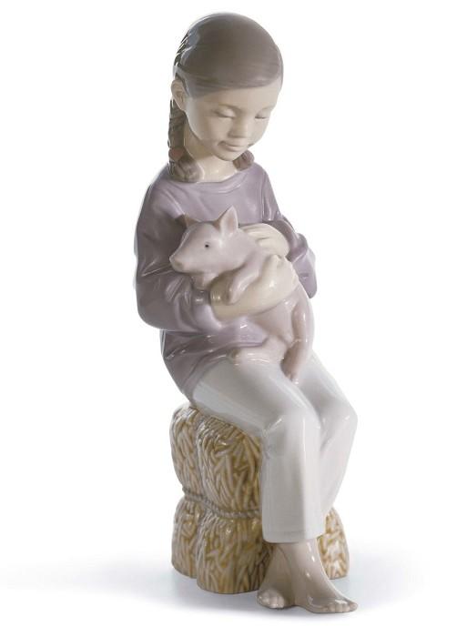 LladroPigtailsPorcelain Figurine