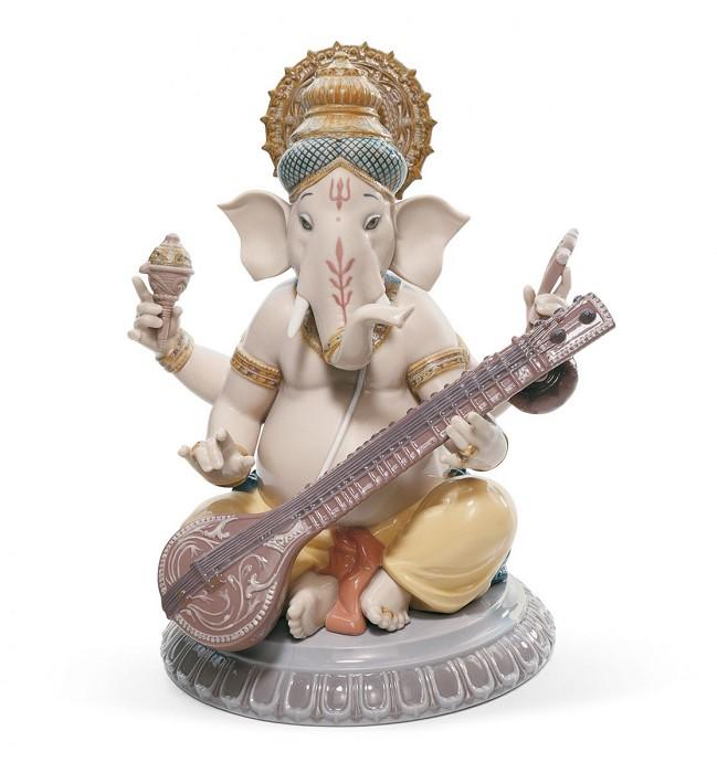 LladroVeena GaneshaPorcelain Figurine
