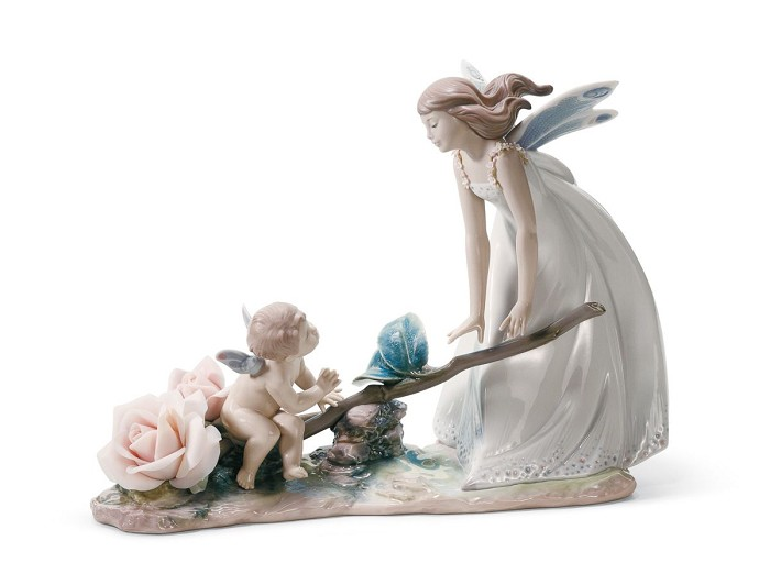 Lladro Summer Rhythm Fairy Porcelain Figurine