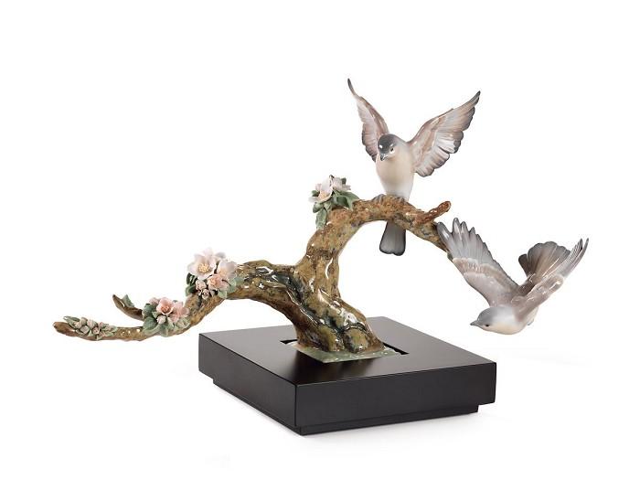 LladroForest Song BirdsPorcelain Figurine