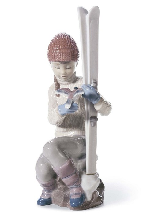 Lladro Take A Breath Porcelain Figurine