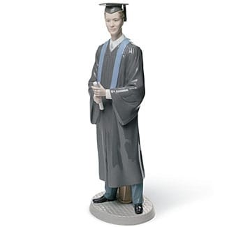 Lladro His Commencement Porcelain Figurine