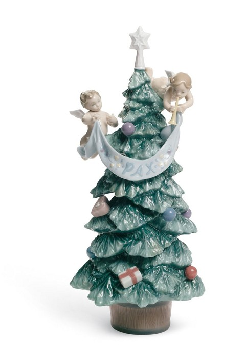 Lladro Evergreen of Peace Porcelain Figurine