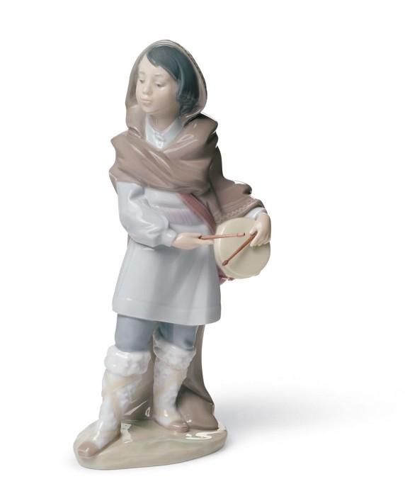 LladroDrummer BoyPorcelain Figurine