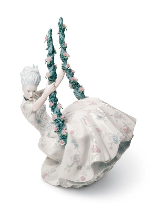 Lladro Rococo Lady on Swing Porcelain Figurine