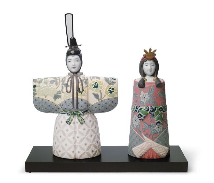 LladroTachibina Empress EmperorPorcelain Figurine