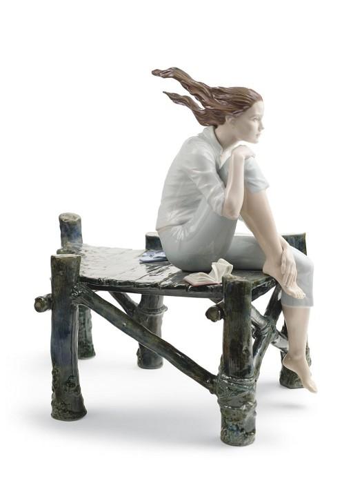 LladroSunset At The PierPorcelain Figurine