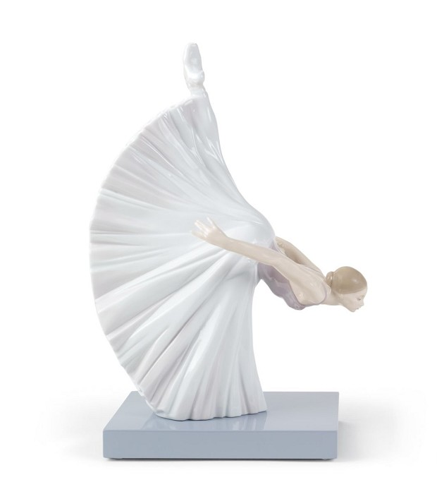Lladro Giselle Reverence Ballet Mixed Media Sculpture