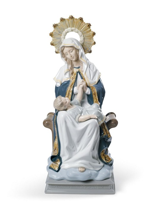 Lladro Our Lady of Divine Providence Porcelain Figurine