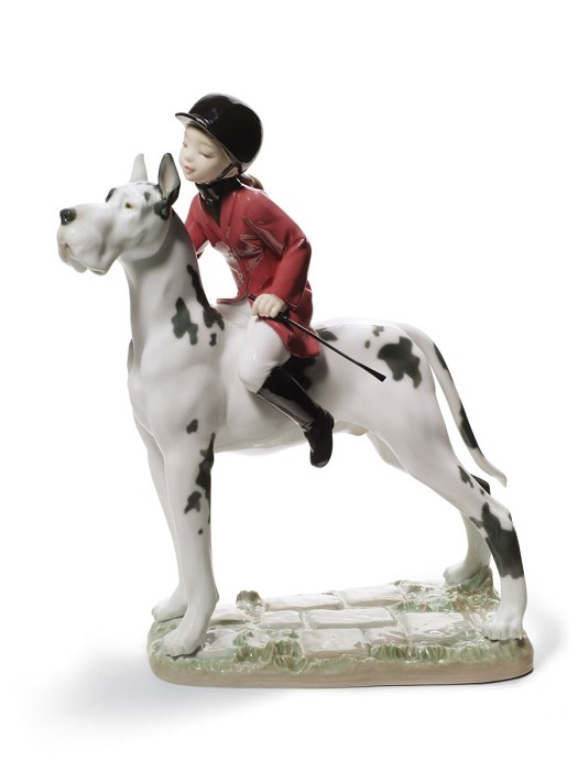Lladro Giddy up Doggy Porcelain Figurine