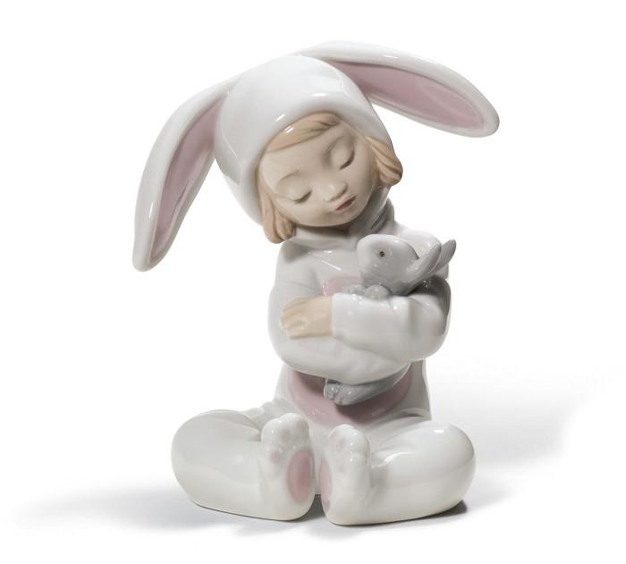 LladroBunny HugsPorcelain Figurine