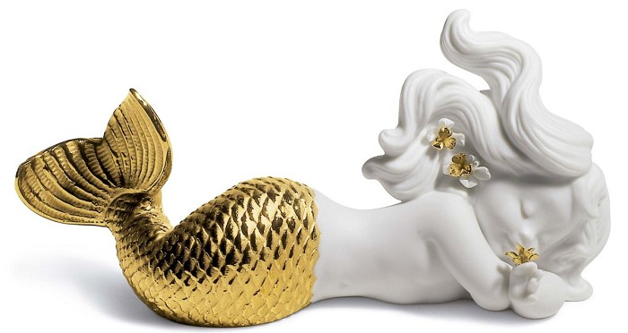 Lladro DAY DREAMING AT SEA (GOLDEN RE-DECO)