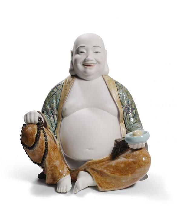 LladroHappy BuddhaPorcelain Figurine