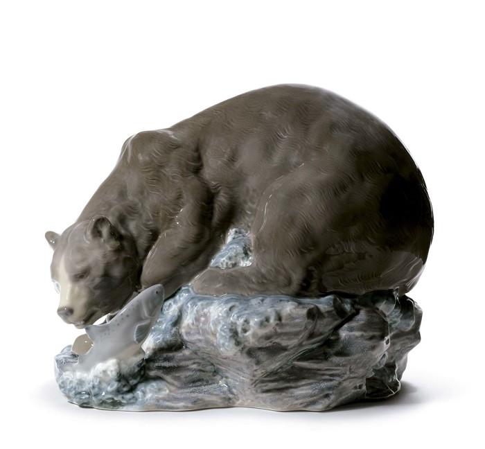 LladroGrizzly BearMixed Media Sculpture