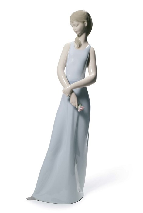 Lladro The Lady of The Rose (Blue) Porcelain Figurine