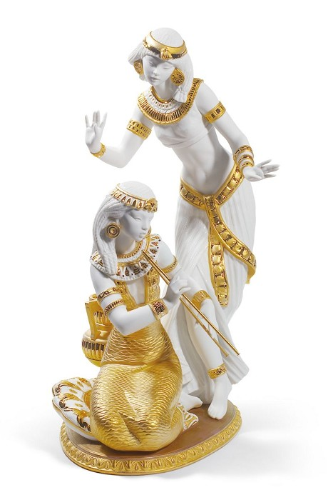 Lladro Dancers from The Nile (Golden Lustre)