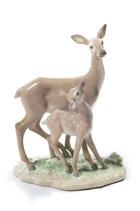 Lladro Fawn In The Forest Porcelain Figurine