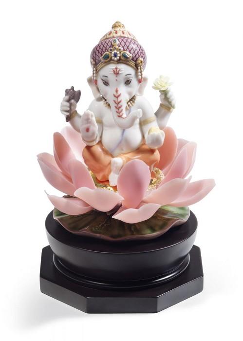 LladroPadmasana GaneshaMixed Media Sculpture