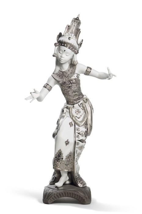 LladroBali Dancer (Silver Lustre)Porcelain Figurine