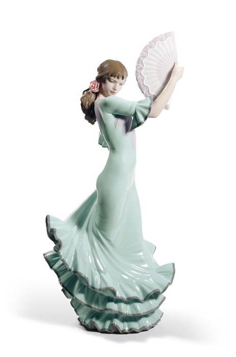 Lladro Passion and Soul Flamenco Woman Porcelain Figurine