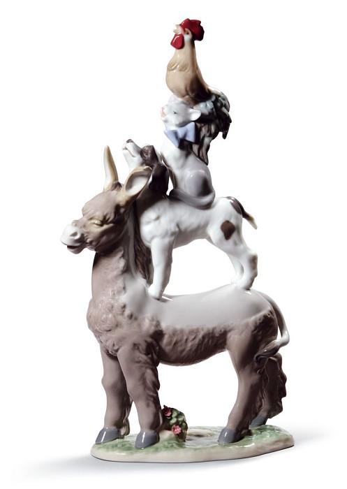 LladroTOWN MUSICIANS OF BREMENPorcelain Figurine