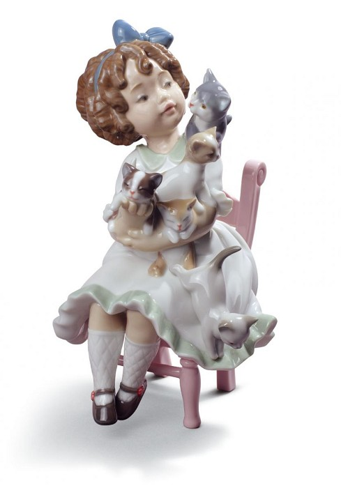 Lladro My Little Family Porcelain Figurine